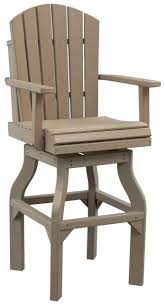 Adirondack Swivel Bar Chair Polywood Dutch Haus Custom Polywood Swivel Bar Stools