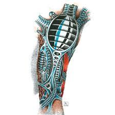 эскиз биомеханической татуировки на руку эскизы татуировок