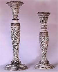 indian wooden candle stand image antique and victimist
