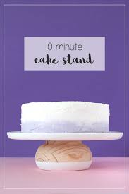easy diy wooden cake stand feature