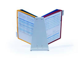 <b>Durable Vario</b> Desk Unit 10 Display Panel System Assorted <b>5570/00</b>
