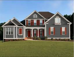 paint house exteriorredexteriorpaint  house paint modern gray red prairie The