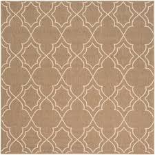 9 square camel and cream indoor outdoor rug alfresco rc willey furniture