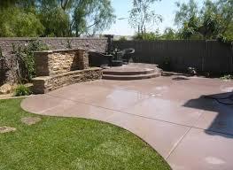backyard concrete designs. Modren Designs Colored Concrete Quality Living Landscape San Marcos CA On Backyard Designs Landscaping Network