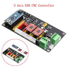 details about 3 axis cnc controller stepper motor driver board for diy laser engraving machine