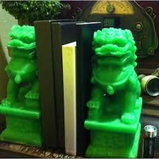 foo dog replica green jade bookend nt table lamp antique vintage furniture on carou