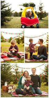 great ideas for staging family photos at a tree farm so cute