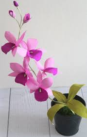 Paper Orchid Flower Paper Orchid Paper Flowers Cattleya Orchid Diy Home Decor Paper