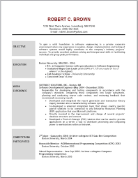 Examples Of Objectives For Resumes Helpful Portrait Resume