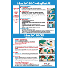 Infant Child Cpr Choking First Aid 12x18 Poster