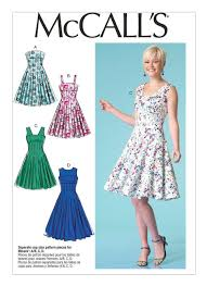 Mccall Patterns Stunning M48 Misses' Fit And Flare Dresses Sewing Pattern McCall's Patterns
