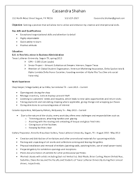 5 Business Student Resume Example Report Examples Resume For