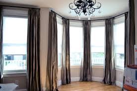 Glamorous Bay Window Drapes Curtains Photo Ideas