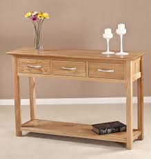 hallway table with drawers 2. 2 Contemporary Console Tables With Drawers Milano Solid Oak Large Drawer Hall Table Flowers Candles Three Hallway