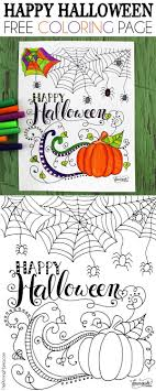 Free Printable Happy Halloween Coloring Page