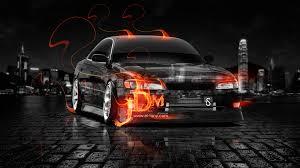 toyota mark2 jzx90 jdm fire crystal city car