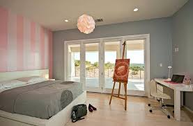 Pink And White Striped Bedroom White Stripe Wall In Girls Bedroom ...