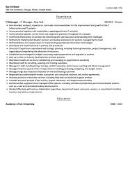 It Manager Resume Sample Velvet Jobs Sales Standar Sevte