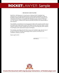 car lien release new jerseyMechanics Lien Release  Lien Waiver Form  Rocket Lawyer