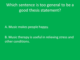 thesis statements a thesis statement is the main idea of the  8 which