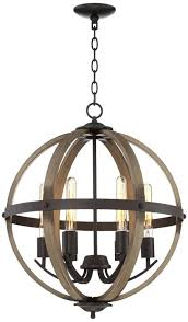 painted wood chandelier round globe crystal and rustic metal wooden beaded for orb wood and metal orb chandelier