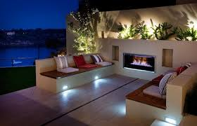 wall design ideas medium size eye catching modern outdoor fireplaces turn the patio into a dreamy