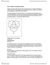 Venn Diagram Syllogism Phi 103 Lecture Notes Spring 2018 Lecture 5 Venn