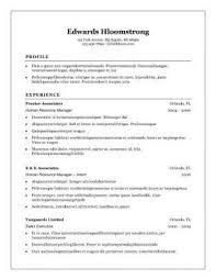 Resume Formats 3 Traditional Elegance Template
