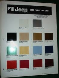 Cherokee Color Chart Details About 1979 Jeep Paint Color Chip Chart All Models Fsj Cj J 10 Wagoneer Cherokee Dn38