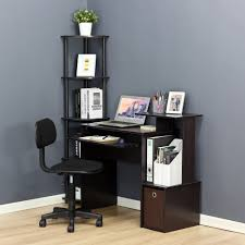 writing desks for home office. Modren Writing Shop Multipurpose BlackBrown Home Office Computer Writing Desk WIth Bin   On Sale Free Shipping Today Overstockcom 12309211 Throughout Desks For