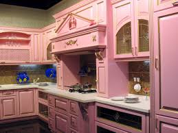 Light Pink Kitchen Pastel Pink Cabinets With White Countertop Workspace Brown Ceramic