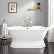 henley cast iron doubleended pedestal tub  bathroom