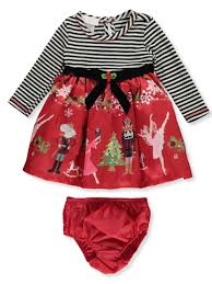 Bonnie Jean Baby Girls Nutcracker Party Dress With Diaper Cover