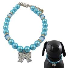 Designer Pet Jewelry Alfie Couture Designer Pet Jewelry Kon Pearl Necklace With