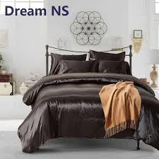 ahsnme imitation silk bedding set for us uk double bed 2 duvet cover set pillowcase luxurious royal bedlinen black lilac cotton duvet cover king bedding