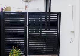 Wood Fence With Sliding Gate  Garden  Privacy Ideas  Pinterest Gates For Backyard