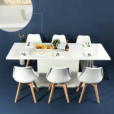 high gloss white dining table extendable seat 4 8 modern wooden kitchen table