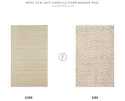 west elm jute chenille herringbone rug 399 vs rugsusa kiwa handwoven jute jagged chevron 197 jute chevron woven rug look for less copycatchic luxe living