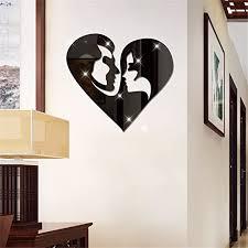 Ein minimalistisch eingerichtetes schlafzimmer wirkt harmonisch und offen. Acryl Spiegel Manner Und Frauen Lieben Sticker Schlafzimmer Wohnzimmer Dekoration Wand Aufkleber Schwarz Amazon De Kuche Haushalt