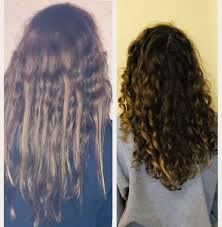 before and afterhair before and after cg keratin treated in first photo