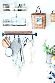 metal wall basket with hooks kitchen wall storage baskets on hooks and a metal rod kitchen metal wall basket