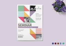 Seminar Design Template Seminar Poster Template