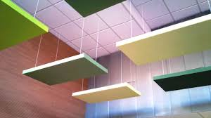 suspended from the ceiling absopanel sound absorbing panels absorb noise and prevent reverberation