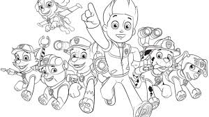 Small Picture PAW PatrolPaw Patrol Group Colouring Pages for Preschoolers