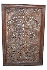shree karni handicrafts multicolor wooden carved wall decor design with frame