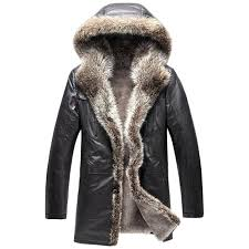 coat with fur hood mens hooded fur coats for men