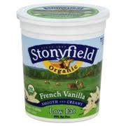 photo of stonyfield organic yogurt low fat french vanilla