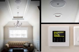 custom in wall speaker systems keep the elegant classic look of your home but introduce perfect stereo sound you control your from a smart device