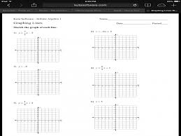 graphing linear equations worksheet kuta