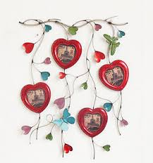 image is loading red metal hearts mini picture frames for home  on red metal heart wall art with red metal hearts mini picture frames for home office wall decor